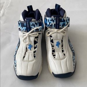 Nike Air Penny 4 White and Blue Camo - Size 10